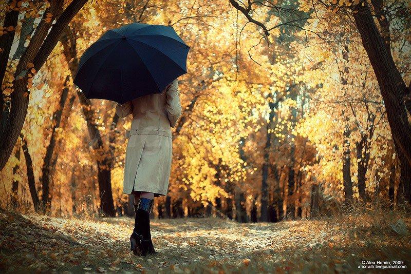 Картинки Девушка Осень Со Спины