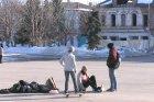 Скейтборд на площади Ленина