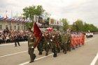 Парад на площади Ленина города Энгельса