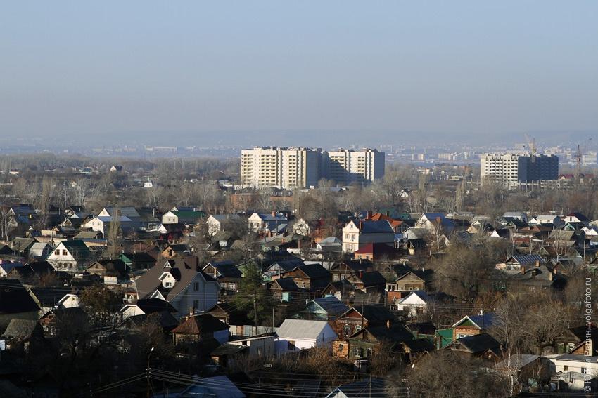 Виды центра Энгельса с 10-ти этажного здания на ул. Петровского