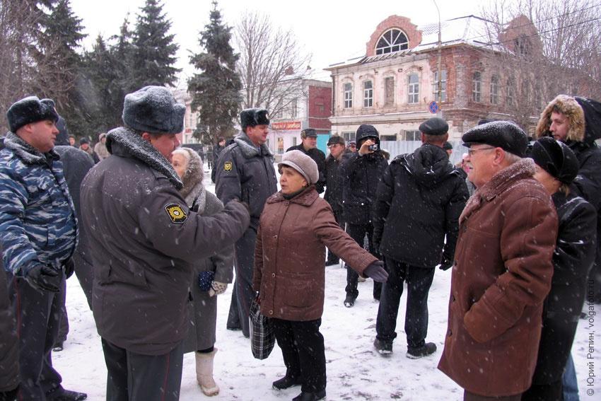 На площади Ленина