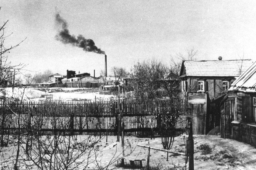 Зимние фотографии города прошлых лет