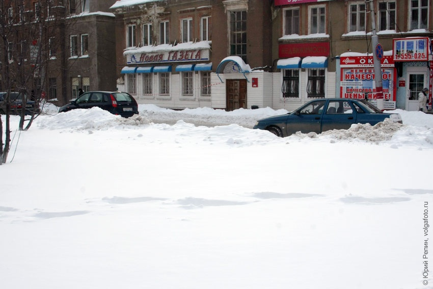Зима на улице М. Горького