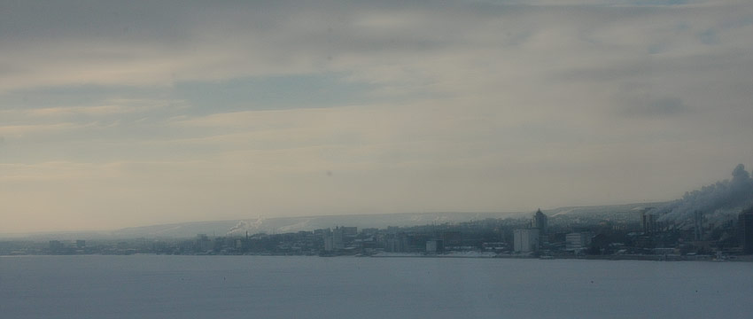 Панорама набережной Саратова