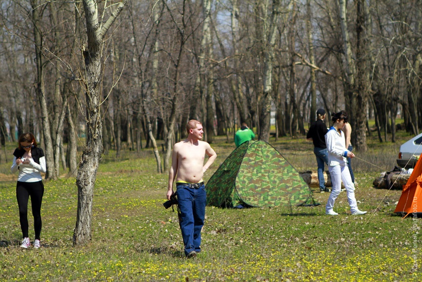 Плэнер в лесу на озере Сазанка