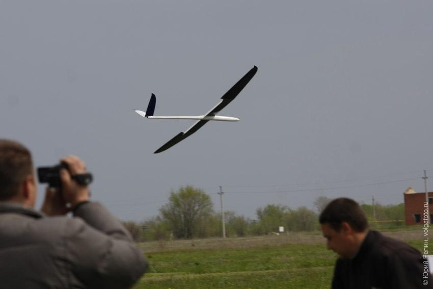Полеты авиамоделей на слете