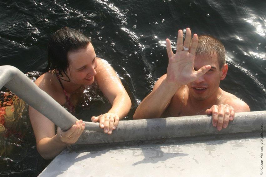 Отдых на реке Волга 1 сентября 2006 г.