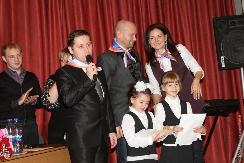 Певица Н. Власова в гимназии №8