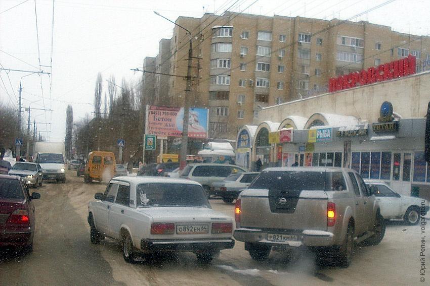 Потерлись у Покровского рынка