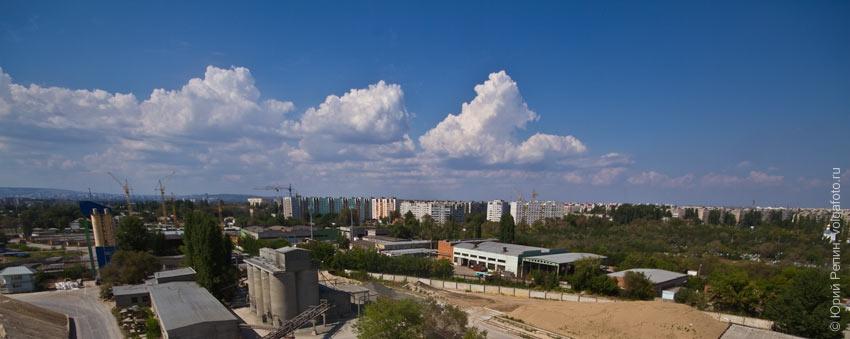 Панорама с башни завода ЖБК-3
