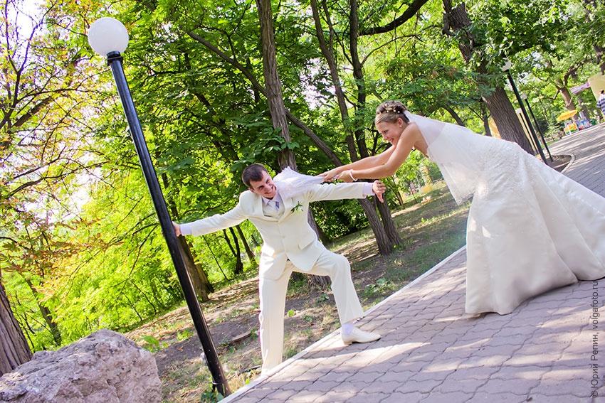 Оригинальная свадебная фотография